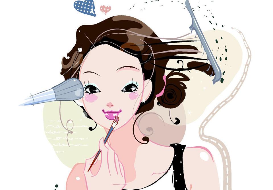 美妆漫画图片