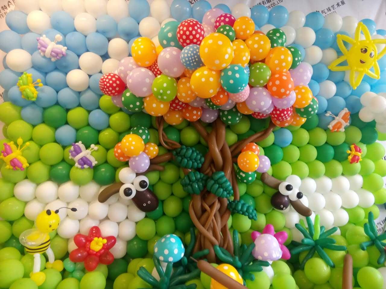 你看过用气球编制的大熊猫和长山羊