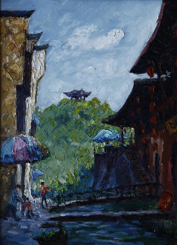 近年来,陈达文潜心于油画风景写生,创作.